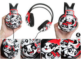 Ninja Pandas Headphones by Bobsmade