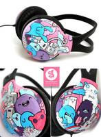 Crazy Club headphones by Bobsmade