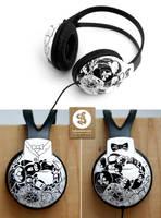 YinYang Headphones by Bobsmade
