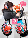 Redpanda Headphones by Bobsmade