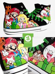 Super Mario Shoes by Bobsmade