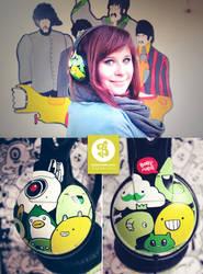 Green Monster Headphones by Bobsmade
