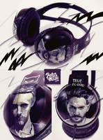TrueBlood Headphones by Bobsmade