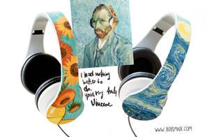 Van Gogh Headphones by Bobsmade