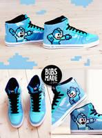 Pixel megaman sneaker by Bobsmade