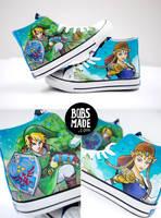 Link X Zelda Shoes by Bobsmade