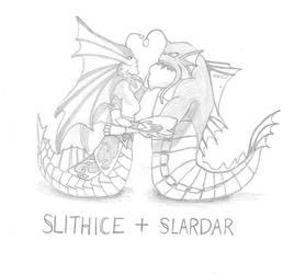 Slithice and Slardar by PrinceChartreuse