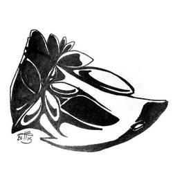 Ink-Draw 18: Mask by kristinbowles