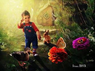 Julen in the forest by Julianez