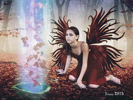 Fairy with forest spirits by Julianez