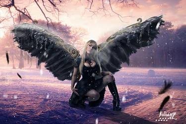 Sheltering angel blizzard by Julianez