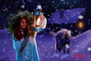 Terror in the snow by Julianez