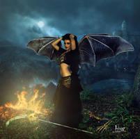 Lilith in moonlit night by Julianez