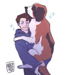 X HUG DOG by noerher