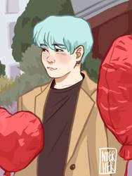 heart balloons by noerher