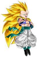Gotenks Super Saiyan 3 by ChronoFz