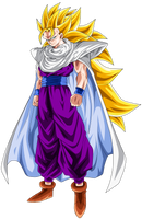 Gohan Super Saiyan 3 - Special 700 Watchers by ChronoFz