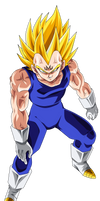 Majin Vegeta by ChronoFz