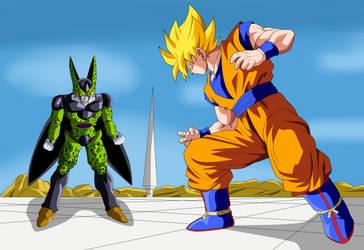Goku Vs Cell by ChronoFz