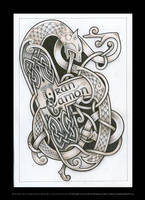 Celtic beast tattoo design by Tattoo-Design