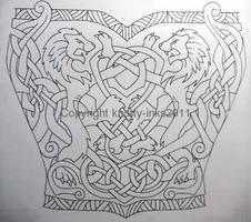 Celtic Lions tattoo design1 by Tattoo-Design