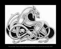 Celtic beast2 tattoo by Tattoo-Design