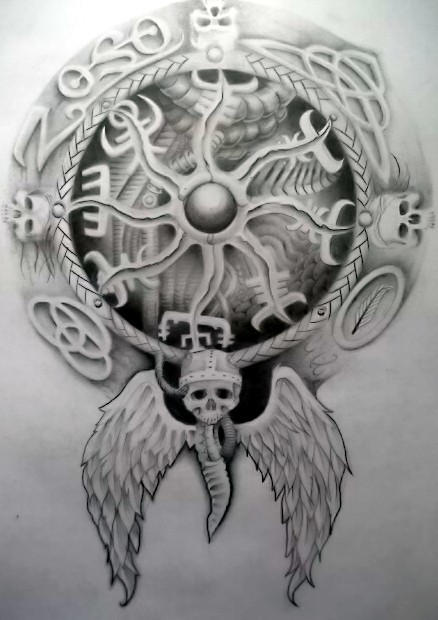 Viking compass by Tattoo-Design