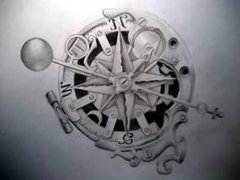Steam-punk compass by Tattoo-Design