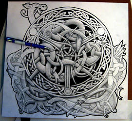 Celtic Blend Shield (WIP) by Tattoo-Design