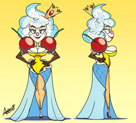 Queen Arctica Creme Model Reference by AKB-DrawsStuff