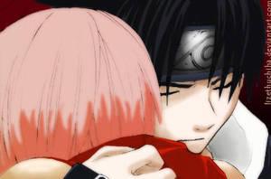 Sasusaku hug by lizethuchiha