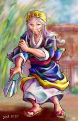 Old woman of anger by miminaga-motono