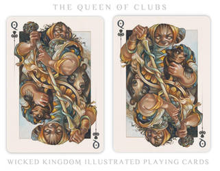 Card Art: The Queen of Clubs by wylielise