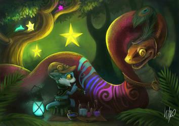 Rainbow snake by Silverfox5213