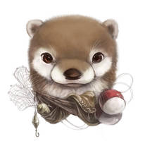 Otter portrait by Silverfox5213