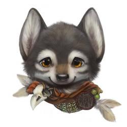 Wolf portrait by Silverfox5213