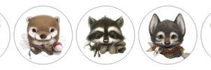 Button badges by Silverfox5213
