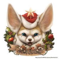 Santa fennec by Silverfox5213