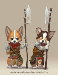 Corgi Guards by Silverfox5213