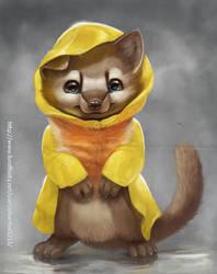 Marten in Raincoat by Silverfox5213