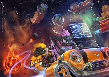 The Cosmic Express by Silverfox5213