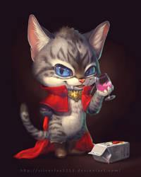 Loki the vampire cat by Silverfox5213
