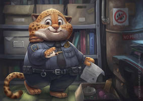 Benjamin Clawhauser by Silverfox5213