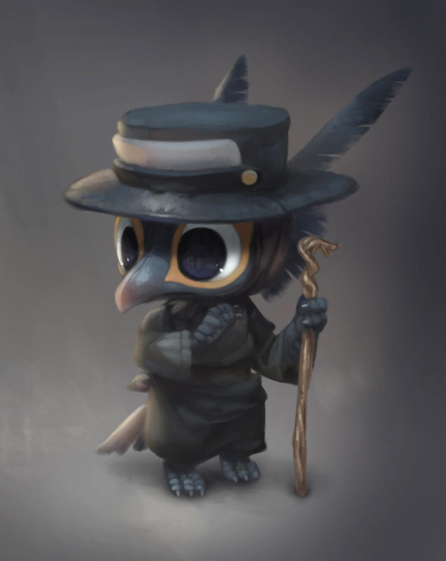 Smol Plague Doctor by Silverfox5213