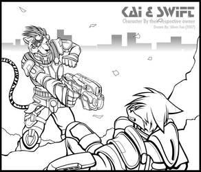 Kai and Swift by Silverfox5213