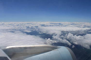 ...Flying Over Cloudy Caverns... by AlexaHarwoodJones