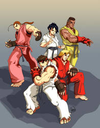 Street Fighter: Gi Team by jdvART