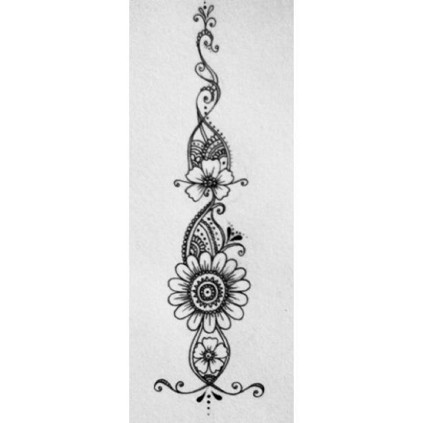 Henna Tattoo Flower Design By Rebekah Jones On Deviantart