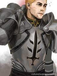 DA:I Cullen in DA:O armour by LilyRutherford