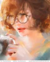 glasses girl by ShuShuhome